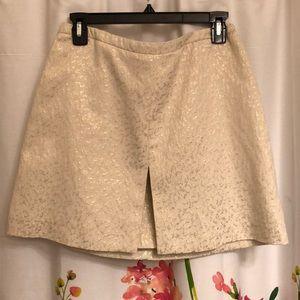 H&M Cream/Gold A Line Skirt